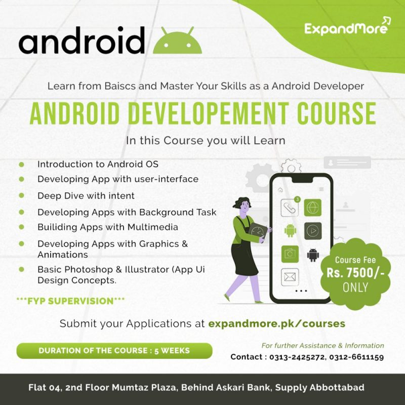 Android Courses Program expandmore